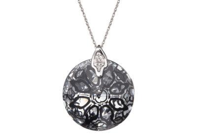 Přívěsek stříbrný Crystal Rose II - černý - 6010 20