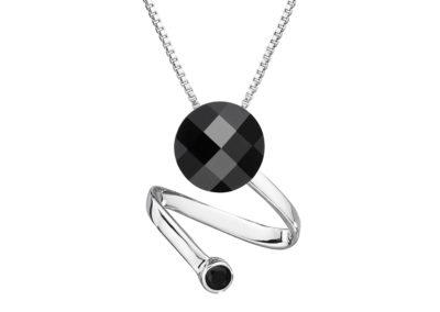 Přívěsek stříbrný Dark Style s českým křišťálem Preciosa - 6861 20
