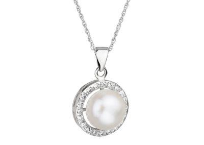 Přívěsek stříbrný Fascinating s pravou říční perlou Preciosa - 5102 00