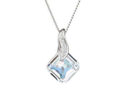 Přívěsek stříbrný Feminine Charm s českým křišťálem Preciosa - 6688 42