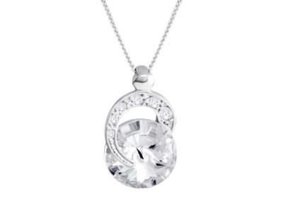 Přívěsek stříbrný Gentle Beauty s českým křišťálem Preciosa - 6766 00