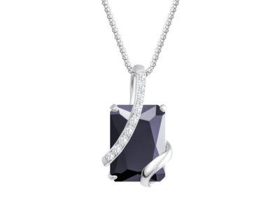 Přívěsek stříbrný Graceful s kubickou zirkonií Preciosa - černý - 5028 20