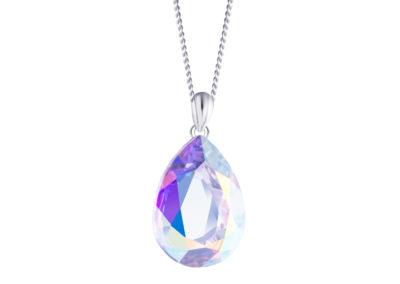 Přívěsek stříbrný Iris s křišťálem Preciosa, krystal AB - 6078 42