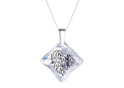 Přívěsek stříbrný Libi s křišťálem Preciosa - 6061 00