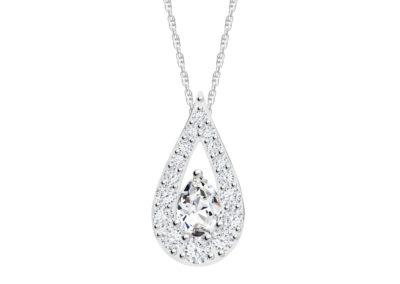 Přívěsek stříbrný Libra s kubickou zirkonií Preciosa, krystal - 5242 00