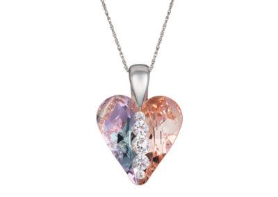 Přívěsek stříbrný Love Heart, srdce s českým křišťálem Preciosa - 6873 70