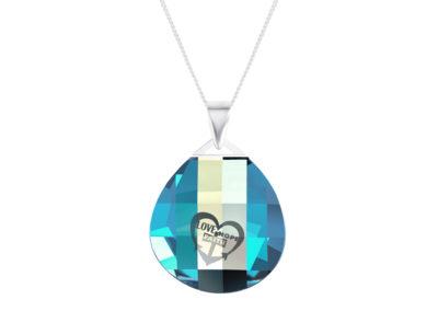 Přívěsek stříbrný Lovella s křišťálem Preciosa - 6067 51
