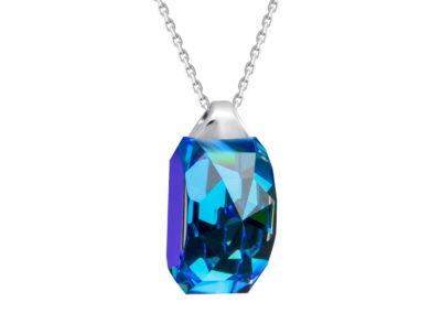 Přívěsek stříbrný Miltonia s českým křišťálem Preciosa, modrý - 6248 46