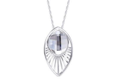 Přívěsek stříbrný Orchid s českým křišťálem Preciosa - 6093 00