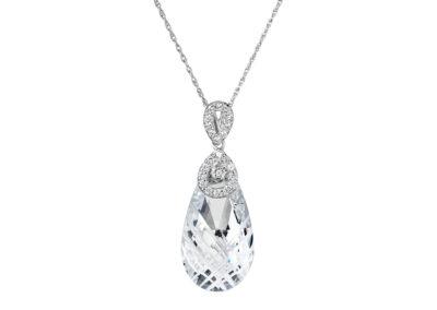 Přívěsek stříbrný Perfect Brilliance s českým křišťálem Preciosa - 6784 00