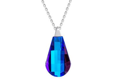 Přívěsek stříbrný Pleione s českým křišťálem Preciosa - modrý - 6242 46
