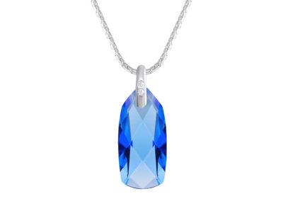 Přívěsek stříbrný Polar Stone s českým křišťálem Preciosa - modrý - 6298 58