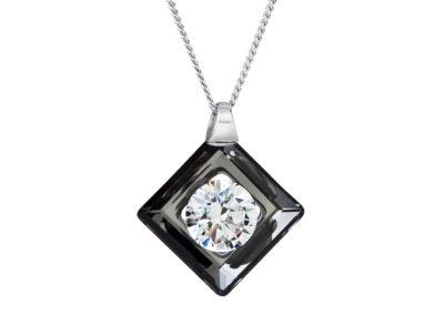 Přívěsek stříbrný Precious s kubickou zirkonií Preciosa - černý - 5116 40