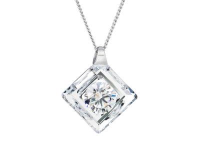 Přívěsek stříbrný Precious s kubickou zirkonií Preciosa - krystal - 5116 00