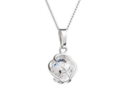 Přívěsek stříbrný Romantic Beads z českého křišťálu Preciosa - 6715 42