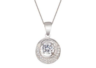 Přívěsek stříbrný Shimmer s kubickou zirkonií Preciosa - 5184 00