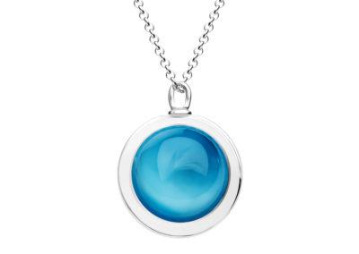 Přívěsek stříbrný Singularis s českým křišťálem Preciosa, modrý - 6116 67