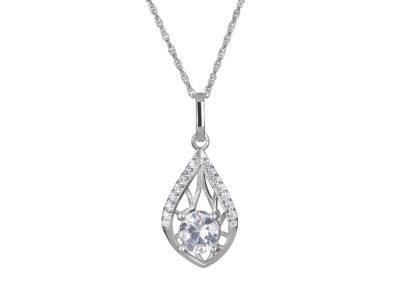 Přívěsek stříbrný Touch of Elegance s kubickou zirkonií Preciosa - 5215 00