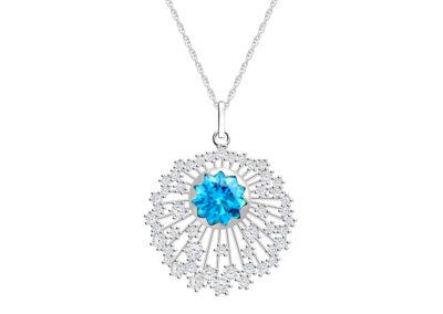 Přívěsek stříbrný Vela s kubickou zirkonií Preciosa, velký - 5251 67