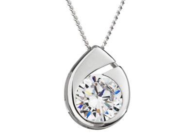 Přívěsek stříbrný Wispy s kubickou zirkonií Preciosa - 5105 00