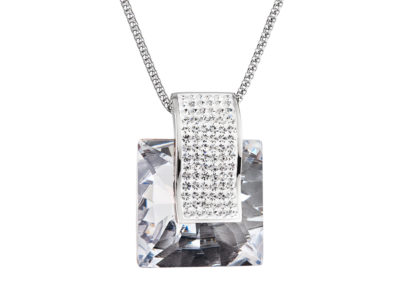 Přívěsek z chirurgické oceli Fantastique s českým křišťálem Preciosa - krystal - 7107 00