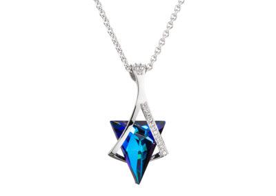 Přívěsek z chirurgické oceli Mystique s českým křišťálem Preciosa, modrý - 7029 _1024x768