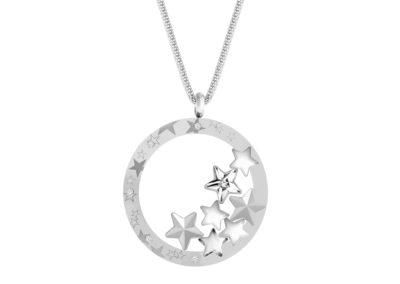 Přívěsek z chirurgické oceli Virgo, hvězdy s českým křišťálem Preciosa, krystal - 7340 10