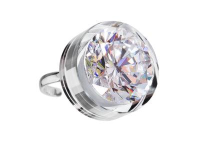 Prsten stříbrný Brilliant Star s kubickou zirkonií Preciosa - bílý - 5197 00