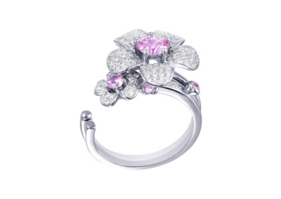 Prsten stříbrný Clematis s kubickou zirkonií Preciosa - 5224 69