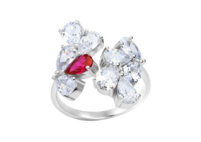 Prsten stříbrný Libra s kubickou zirkonií Preciosa - 5243 55