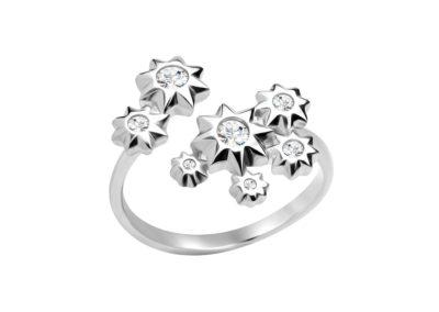 Prsten stříbrný Orion s kubickou zirkonií Preciosa - 5247 00