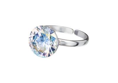 Prsten stříbrný Starry s kubickou zirkonií Preciosa - krystal AB - 5174 42
