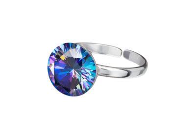 Prsten stříbrný Starry s kubickou zirkonií Preciosa - modrý - 5174 46