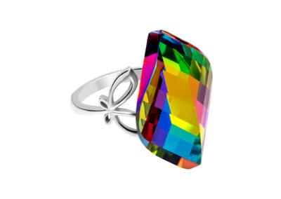 Prsten z chirurgické oceli Jasmin s českým křišťálem Preciosa - 7312 41
